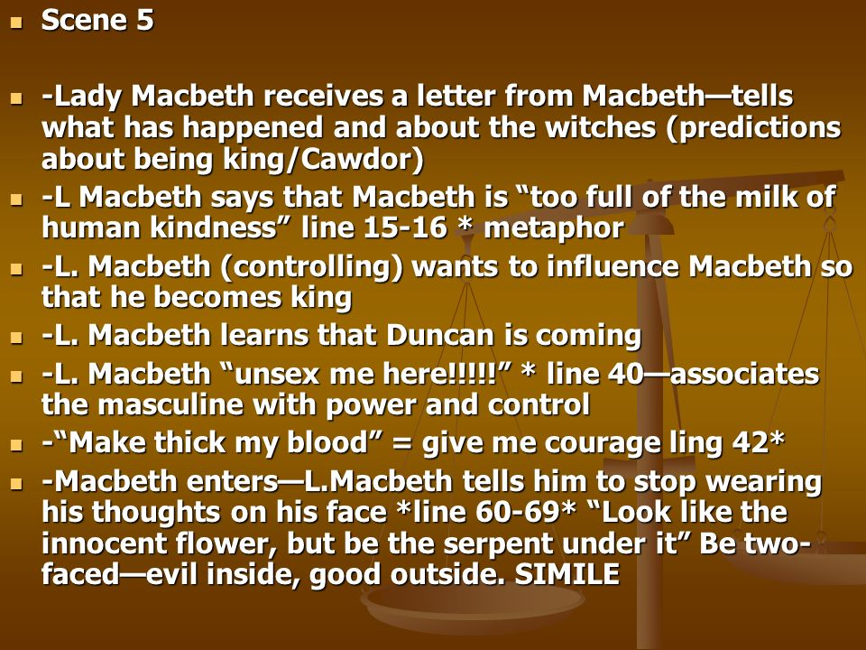 how do the witches control macbeth Million-dollar question: are the witches (1) playing on macbeth's ambition and planting the idea of murder in his head (2) really privy to some secret info about the way things are going to go down or (3) actually controlling fate in some way.
