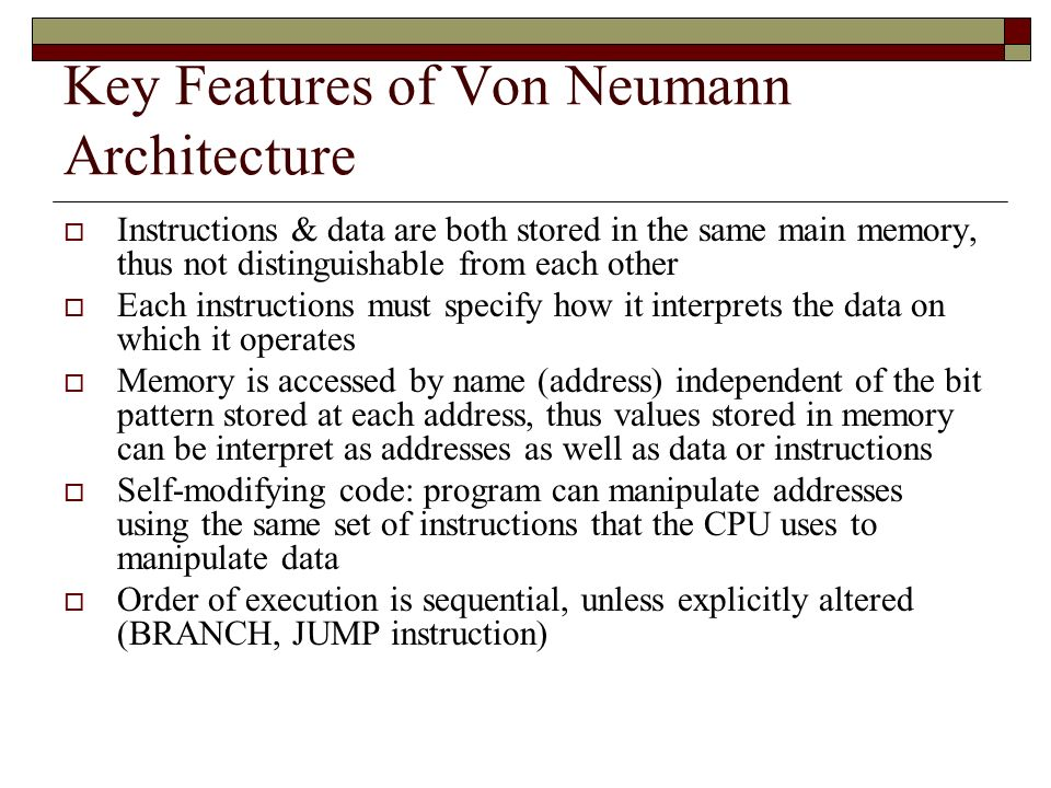 Von neumann computers article authors rudolf eigenman for Architecture von neumann