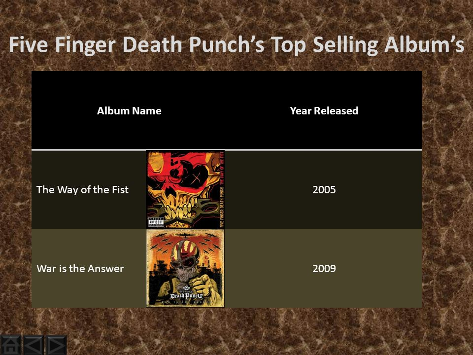 Five Finger Death Punch The Way Of The Fist Album Cover On Tour With Fi...