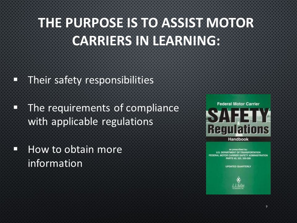 Intrastate New Entrant Safety Seminar Ppt Download