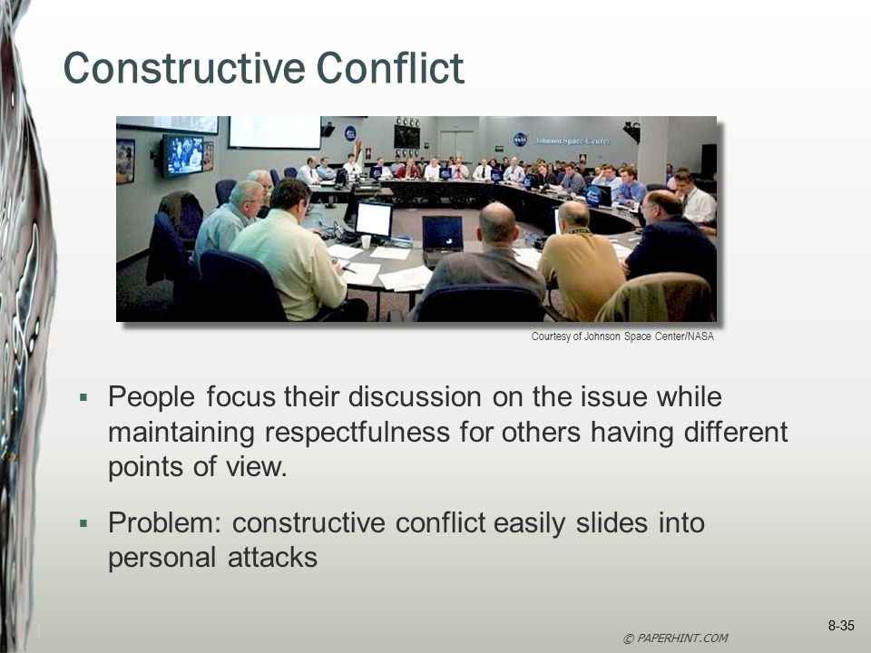 constructive conflict Constructive conflict management | 2 days people approach situations with  their own set of experiences, priorities, and viewpoints conflict is inevitable.