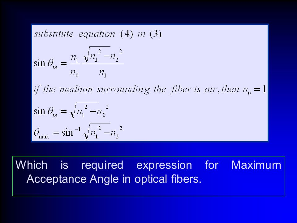 acceptance angle and numerical aperture of optical fiber pdf