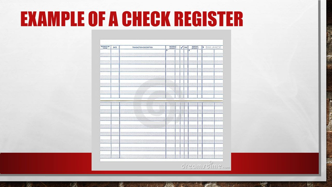 check register example
