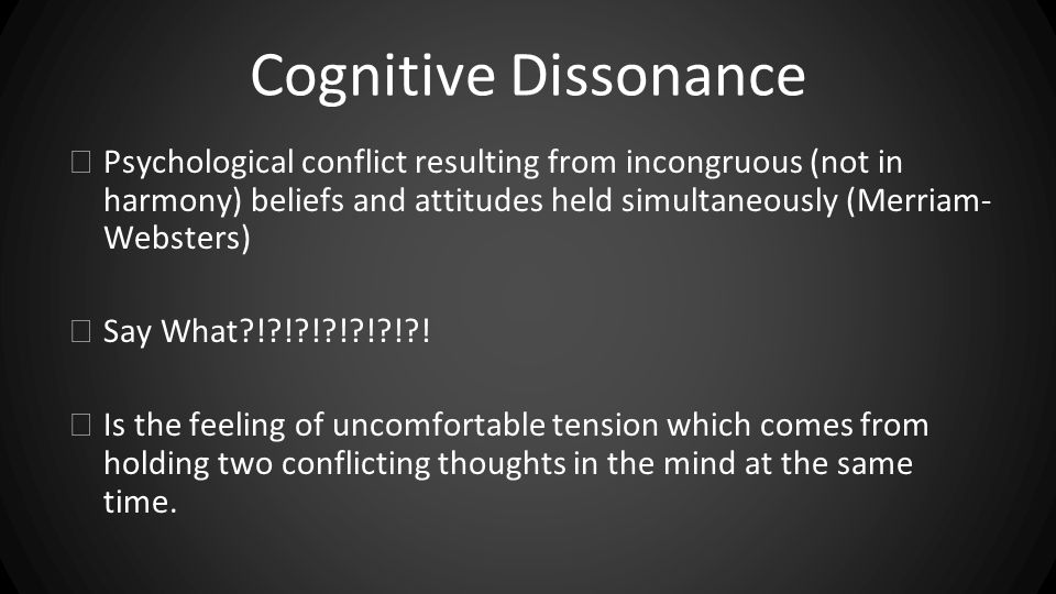 an analysis of leon festingers theory of cognitive dissonance Festinger's (1957) cognitive dissonance theory suggests that we have an inner drive to hold all our attitudes and behavior in harmony and avoid disharmony (or dissonance) this is known as the principle of cognitive consistency.
