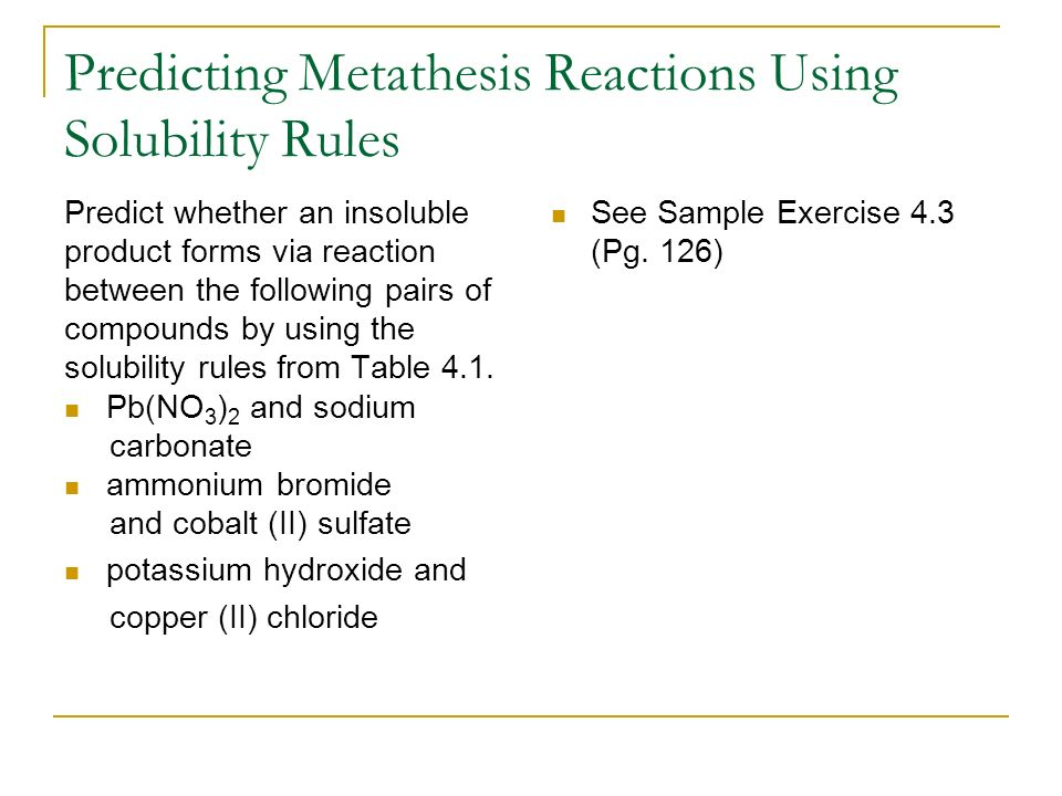 metathesis rules For ruthenium catalyzed olefin metathesis reactions, choosing the right  but  there are a few rules of thumb that can limit your trials (and more.
