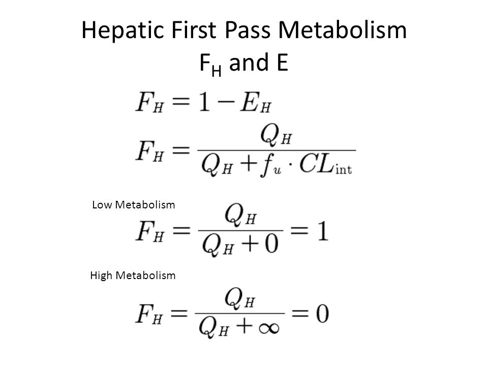 first pass metabolism and bioavailability pdf