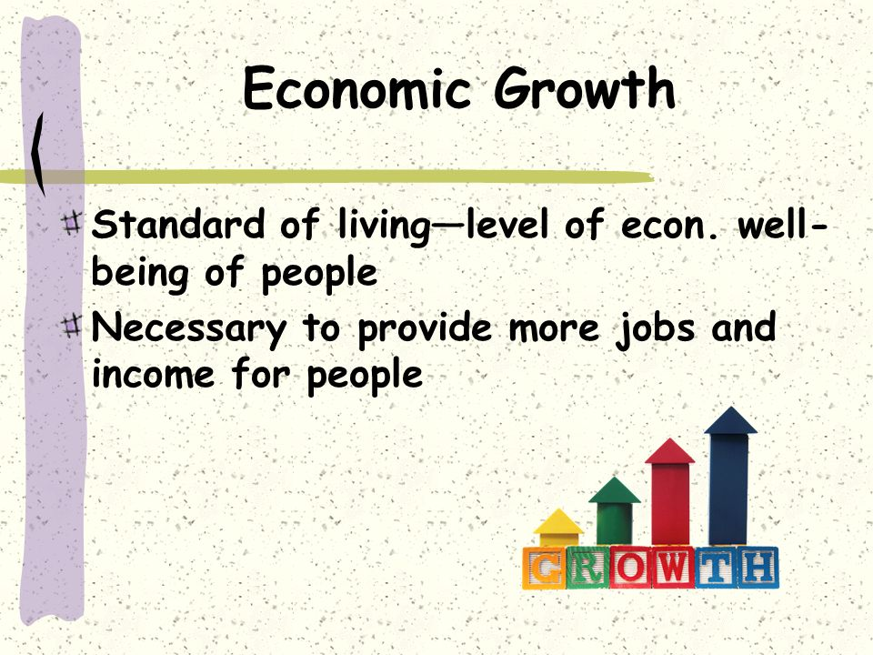 The link between productivity growth and living standards