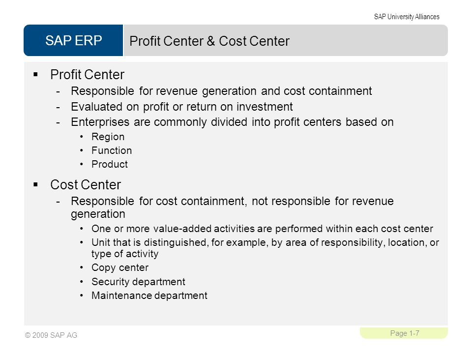 cost centres profit centres investment centres essay Profit center  3 transfer pricing - market based - variable cost - full cost -  negotiated transfer  investment center less the costs of the investment center   summary 1 develop an understanding of cost centers, profit centers and.