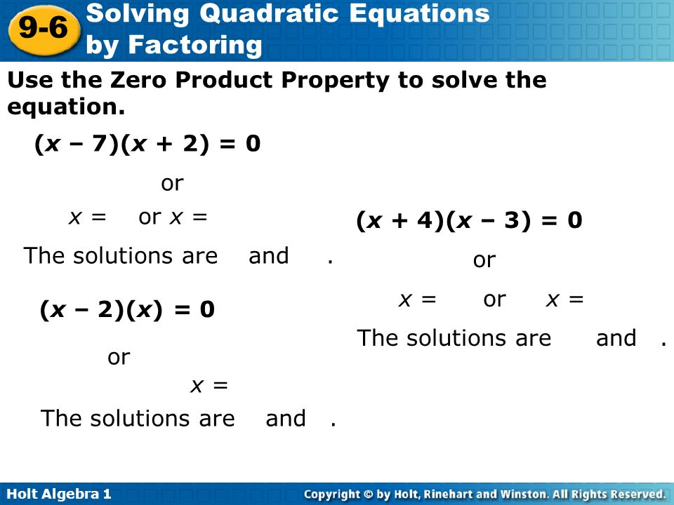 solving quadratic equations by factoring answers 4 3 tessshebaylo. Black Bedroom Furniture Sets. Home Design Ideas