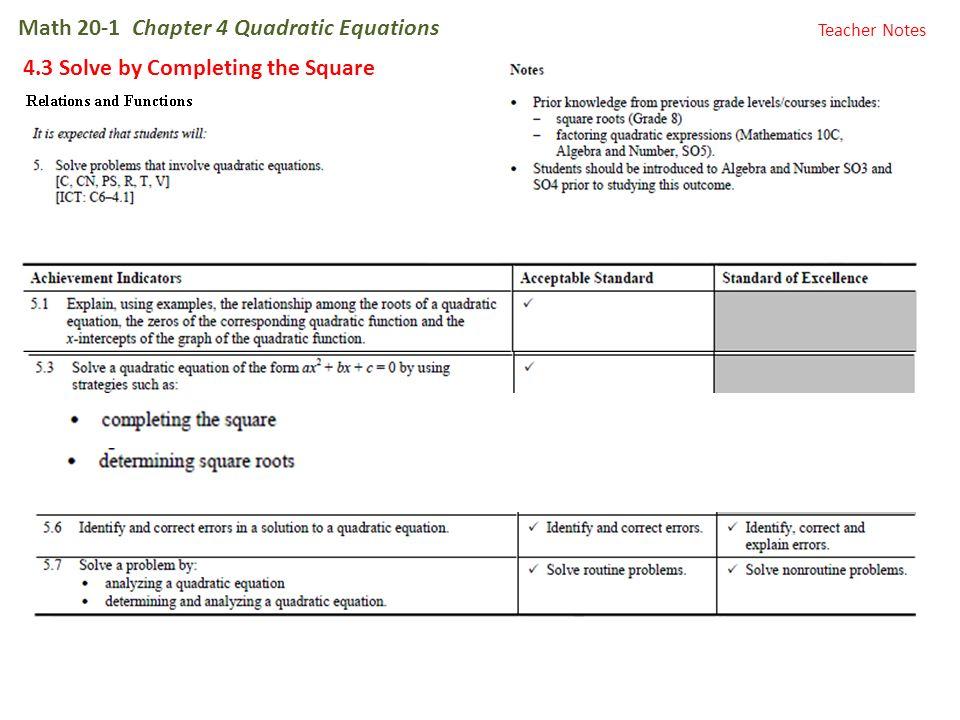 quadratic equation form 4 notes tessshebaylo. Black Bedroom Furniture Sets. Home Design Ideas