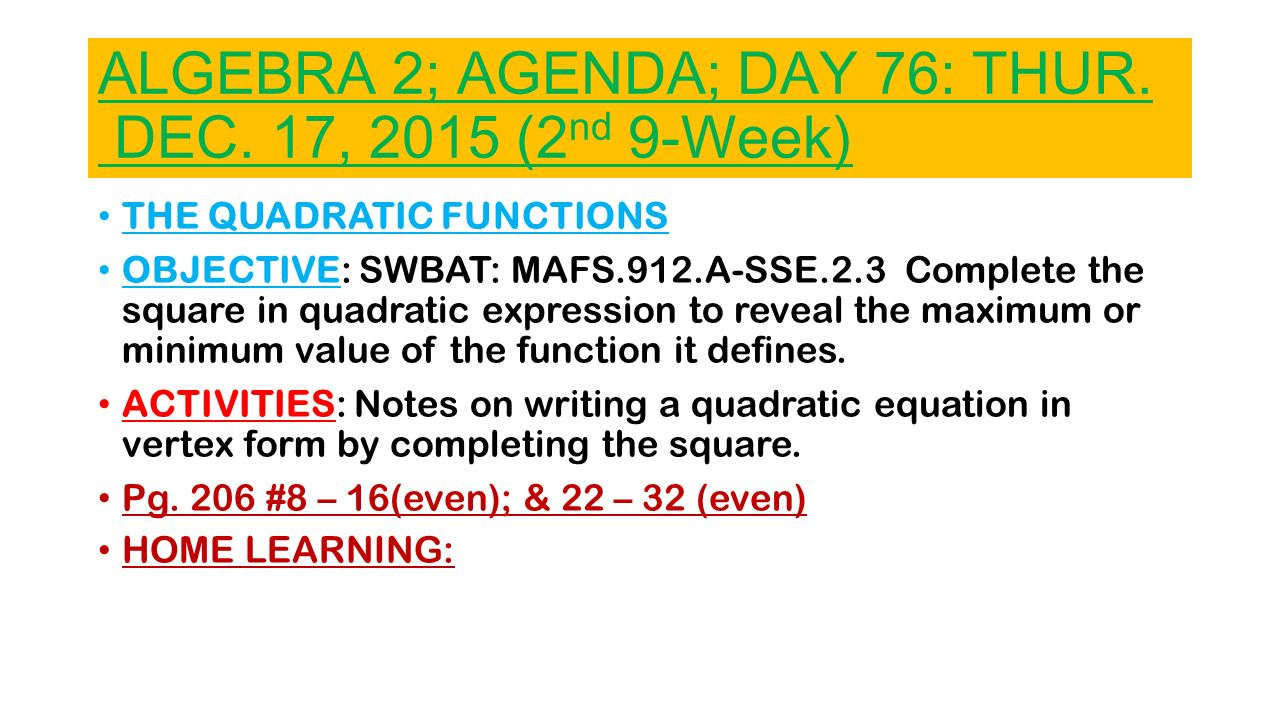 43 Algebra