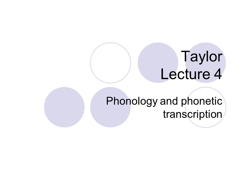 lecture 1 phonetics and phonology