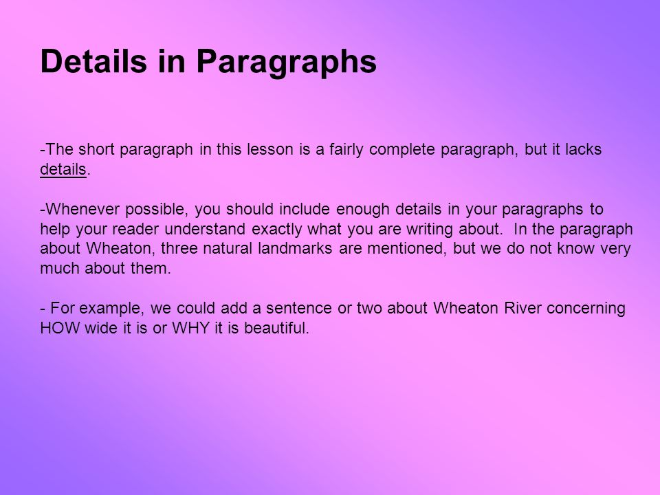 how to understand a paragraph