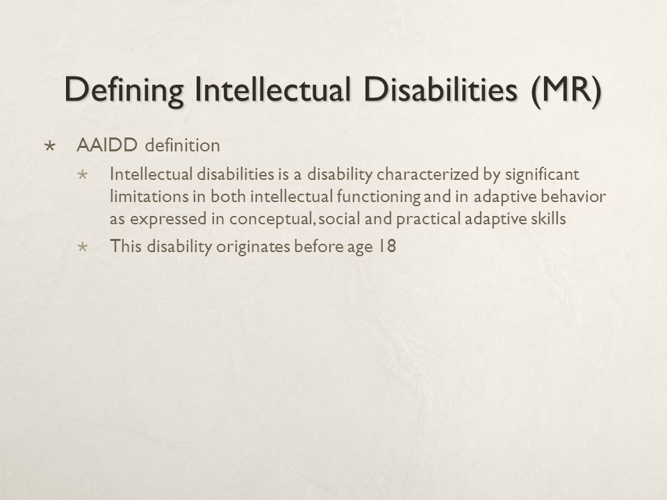 definition of intellectual disability pdf