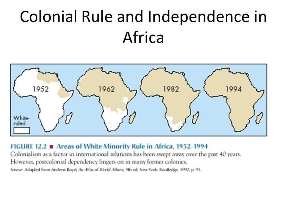 colonial rule in africa The two publics emerged because colonial ideologies of legitimation denigrated african societies and cultures and glorified european colonial rule, while african bourgeois ideologies of legitimation accepted colonial ideas and principles to justify the leadership of the elites in the fight against colonialism and the inheritance of the.