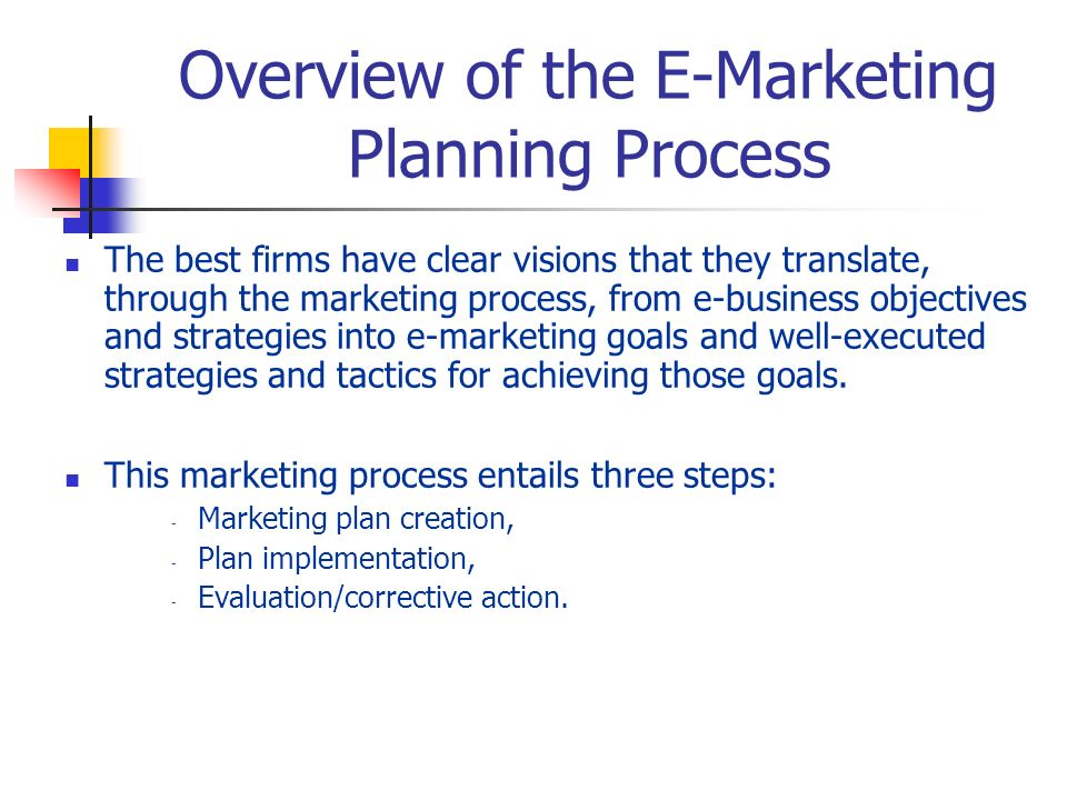 Chapter 3: The E-Marketing Plan - ppt download