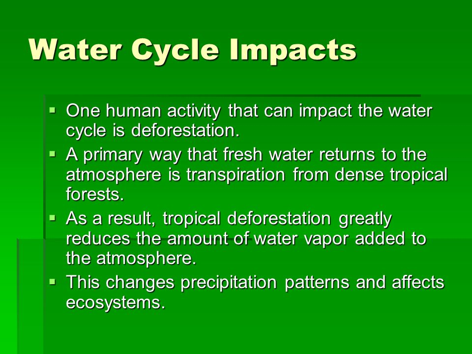 human activities that may affect water