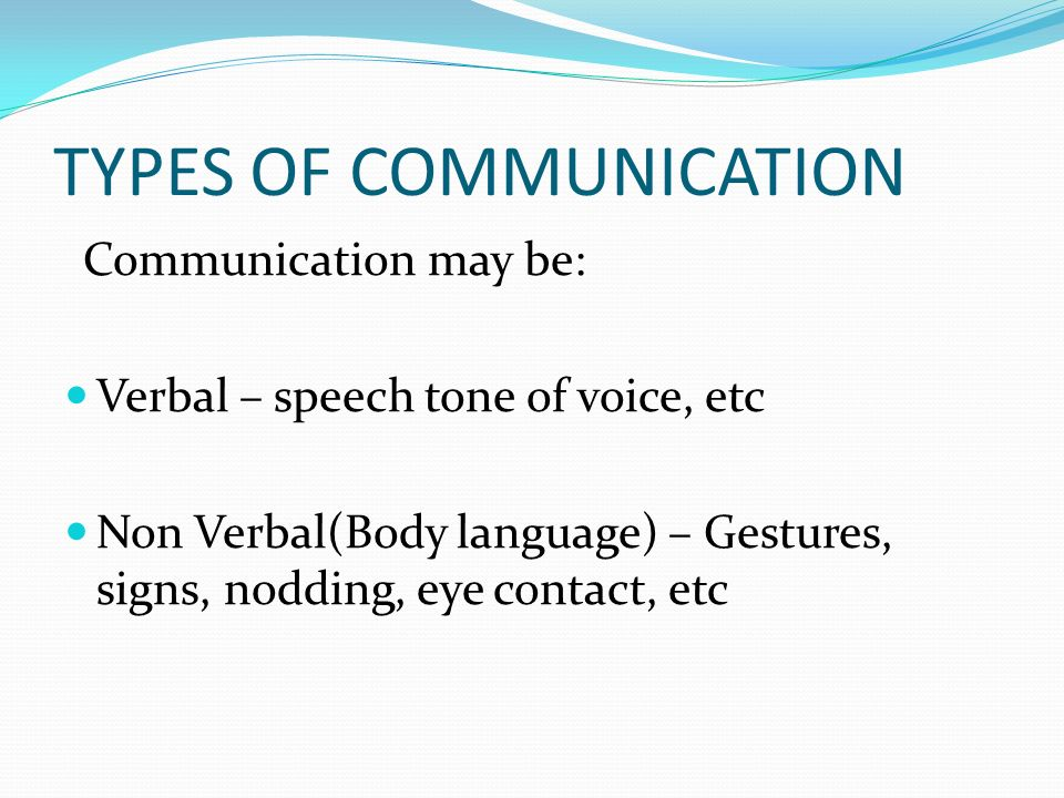verbal communication in care setting Communication skills are verbal and non-verbal words, phrases, voice tones, facial expressions, gestures, and body language that you use in the interaction between you and another person verbal communication is the ability to explain and present your ideas in clear english, to diverse audiences.