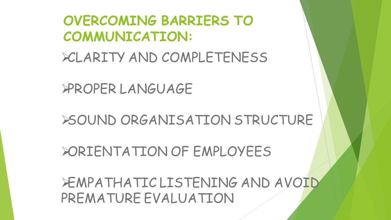 overcoming barriers to good listening Charting your course: seminar iv - setting your sails: overcoming barriers to communication listening good listening skills aid communication listening skills can be valuable to you and to.