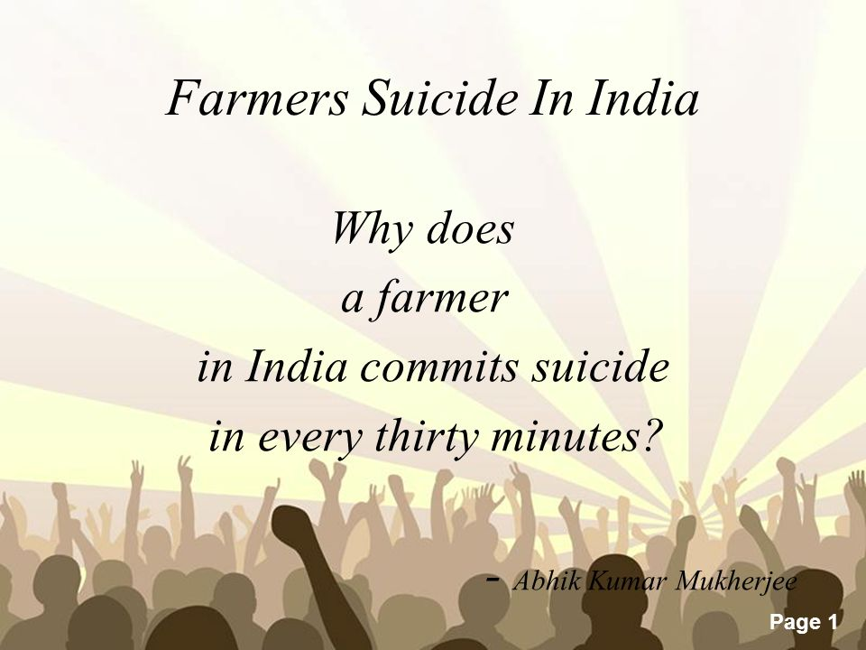 farmers suicide in india - ppt video online download, Presentation templates
