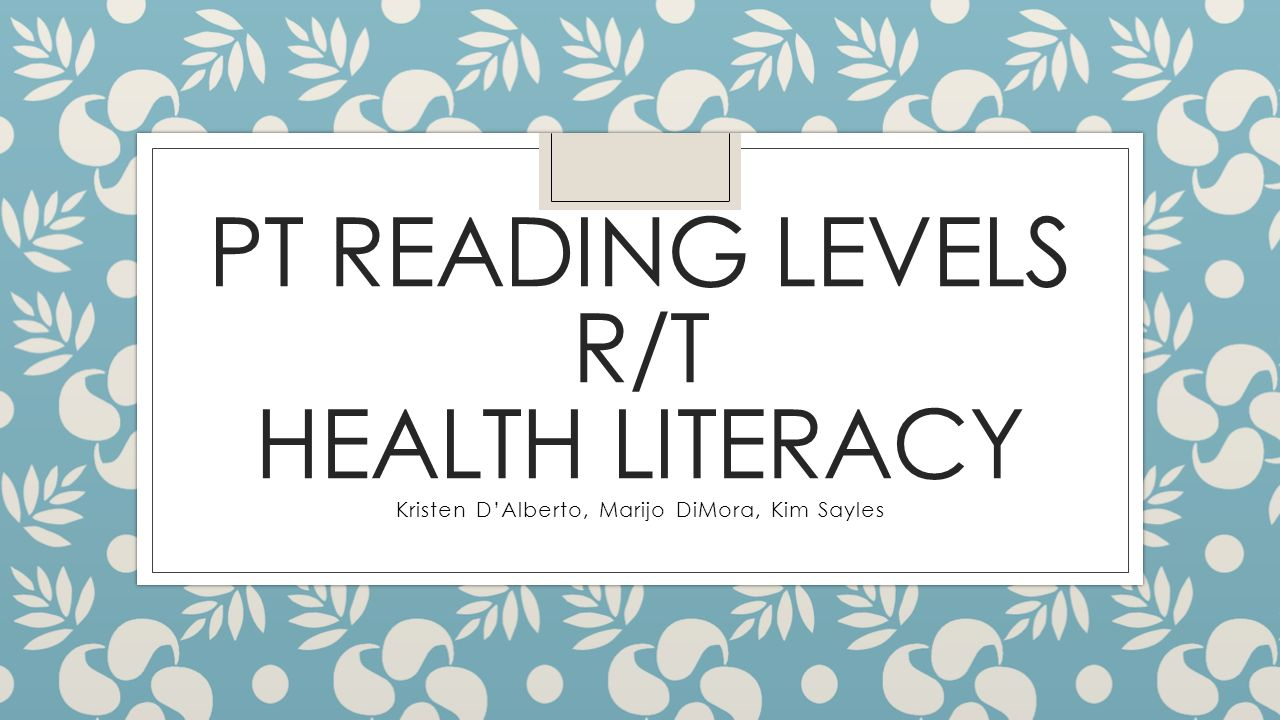 Integrating Health Literacy into Adult Education | Health ...
