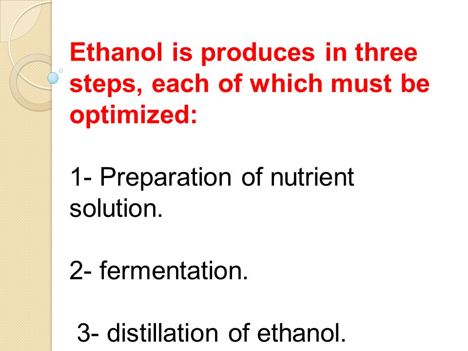 distillation of ethanol