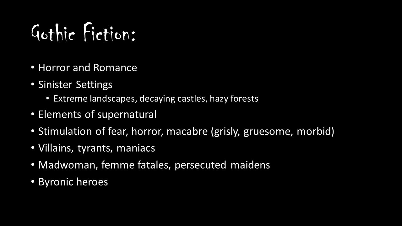 exploring gothic literature the pit and the pendulum ppt video  3 gothic