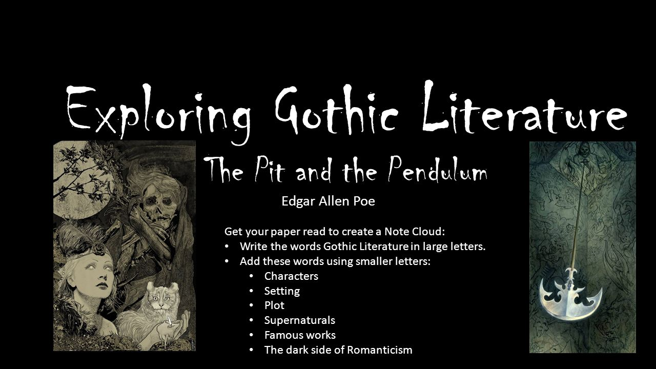 romantic and gothic literature Course syllabus may 2015 1 gothic literature course description gothic literature from vampires to ghosts, these frightening stories have influenced fiction.