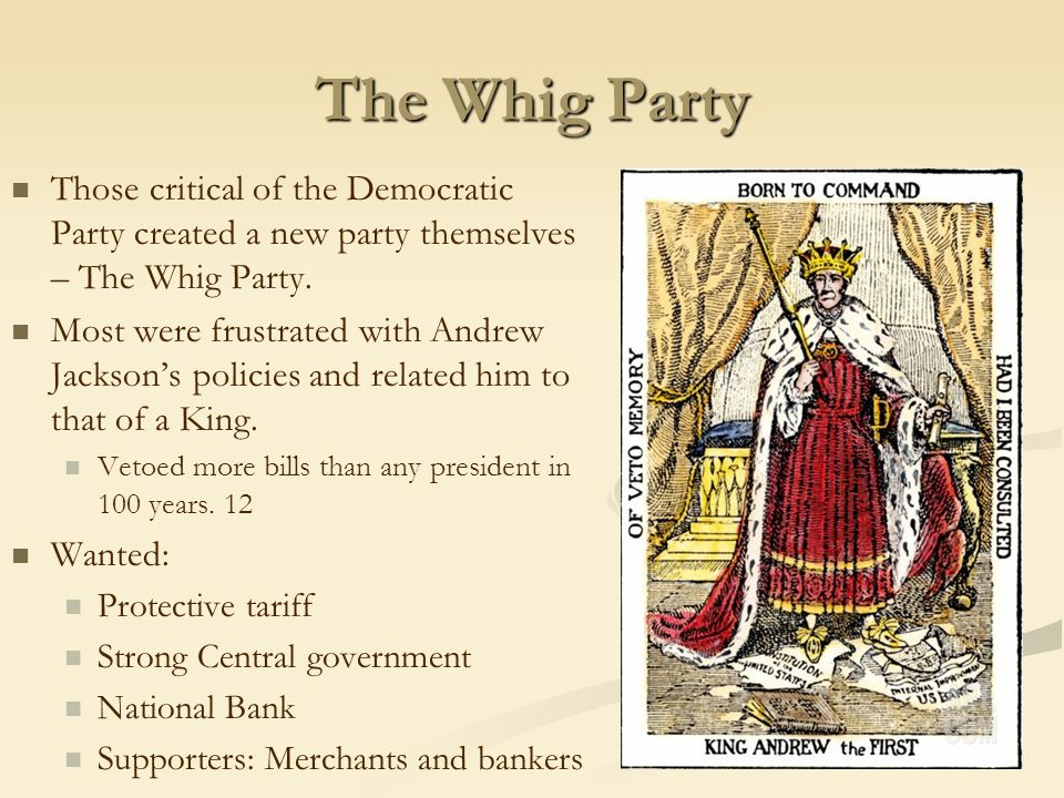 Democrats Vs. Whigs