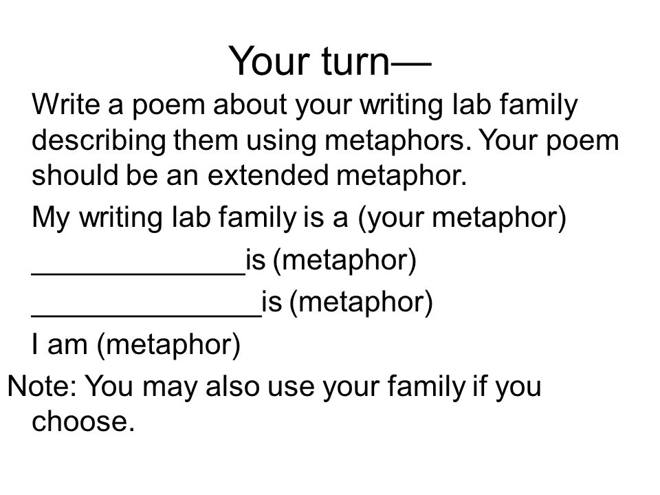 Writing Lab Forms of Poetry. - ppt download