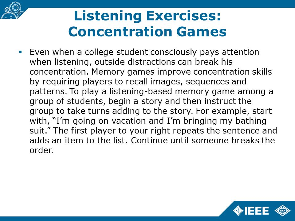 Active listening games for groups