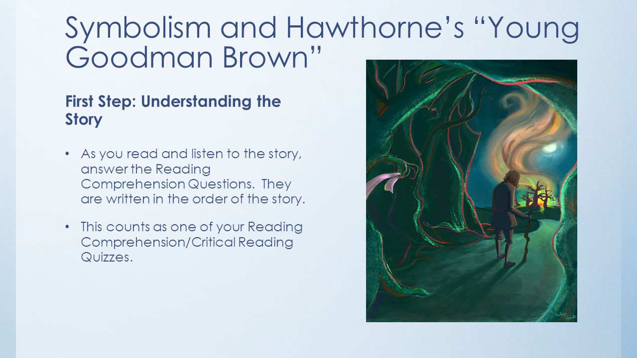 "the use of biblical symbols in young goodman brown by nathaniel hawthorne Symbolism in the lottery and young goodman brown - research lottery"" and ""young goodman brown of young goodman brown by nathaniel hawthorne is a."