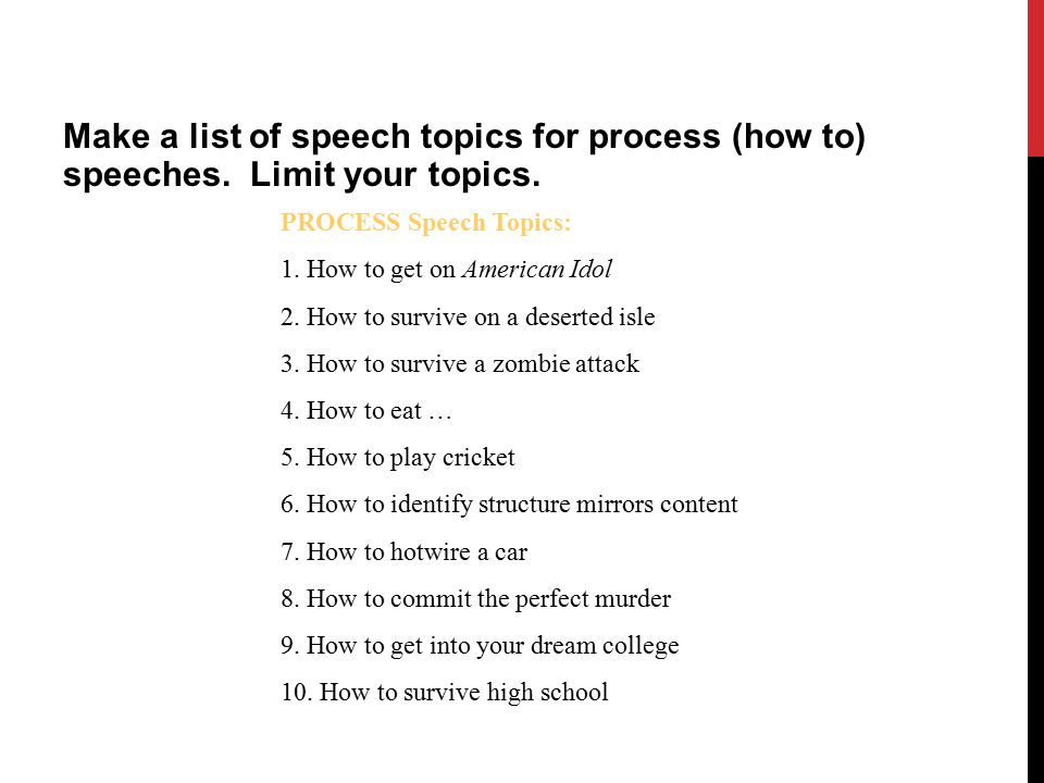how to rdquo speech process speech ppt video online make a list of speech topics for process how to speeches