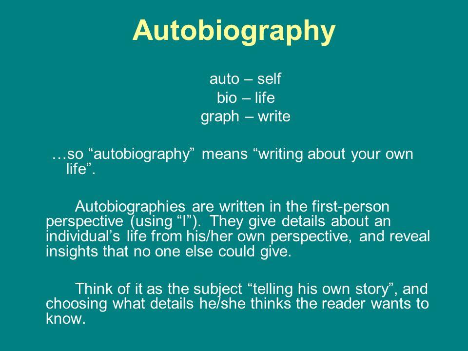 how write autobiography