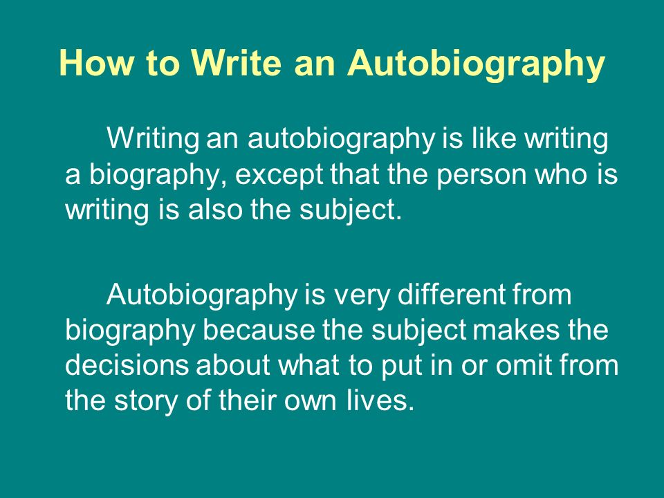 Autobiography Samples: How to Write an Impressive Autobiography
