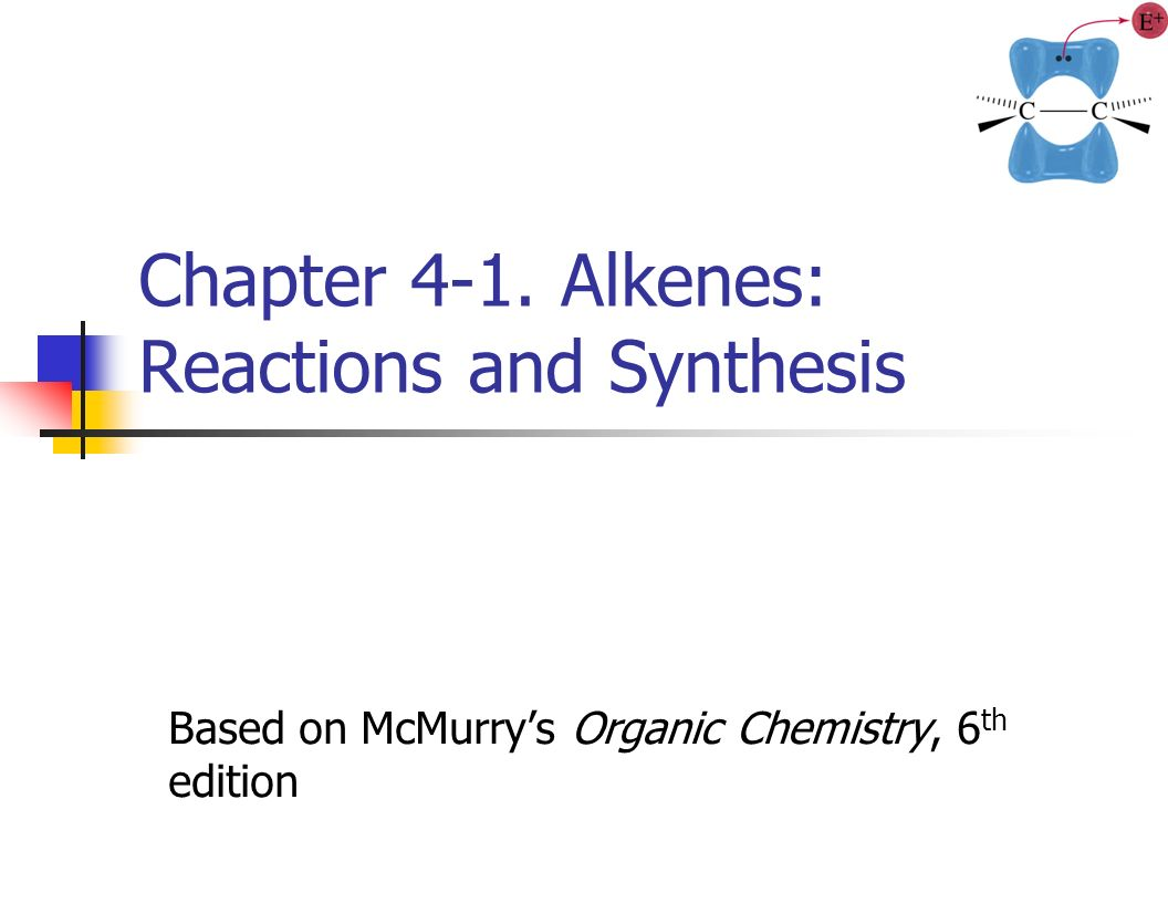 Chapter 4-1  Alkenes: Reactions and Synthesis