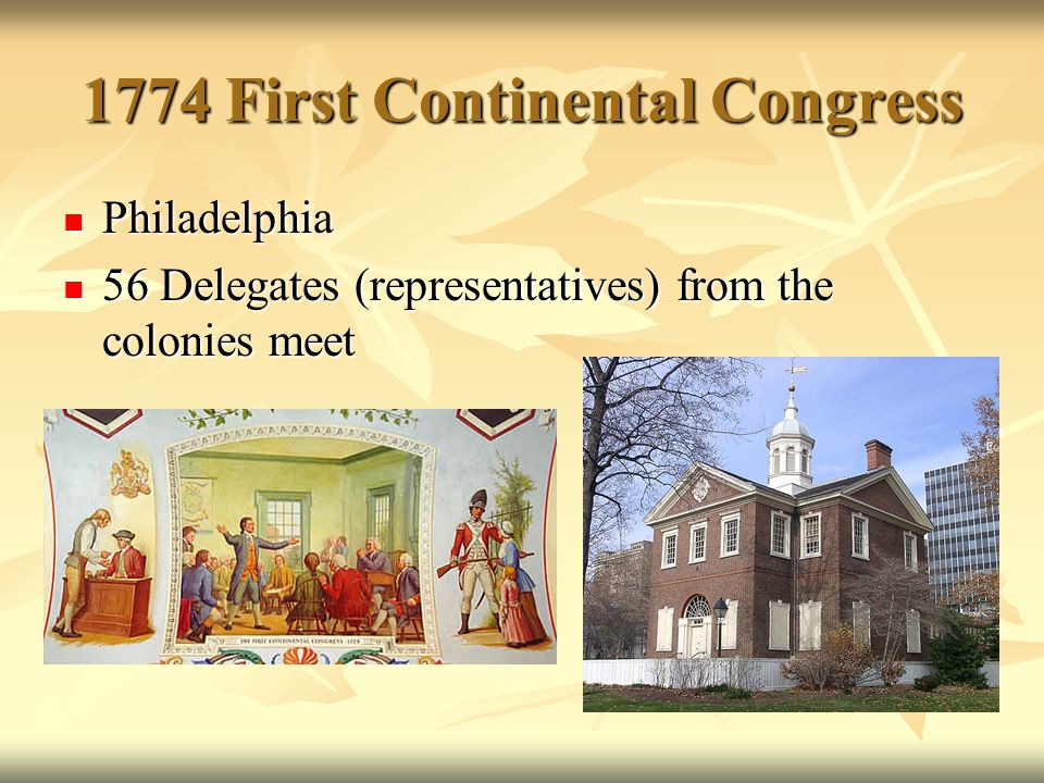 the fist about continental congress Information