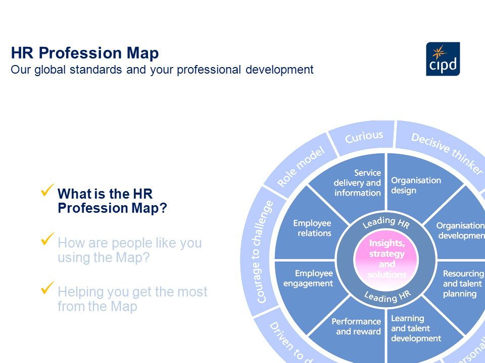 The CIPD Profession Map