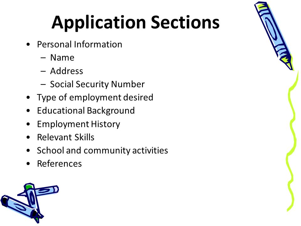 Completing a Job Application - ppt download