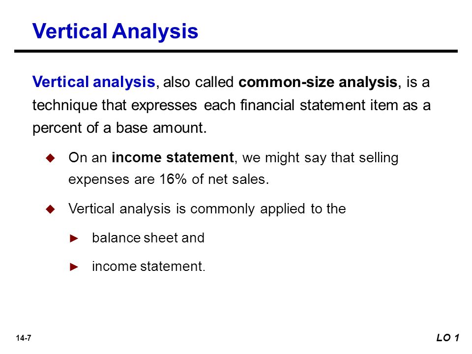 Excel - Horizontal Analysis and Vertical Analysis