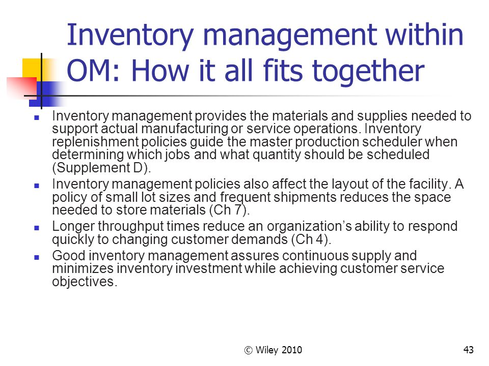 operations inventory management defining replenishment from requirements philosophy essay ͕ discuss the role of operations management in the of inventory replenishment management of the lean philosophy and techniques ͕ define the core.