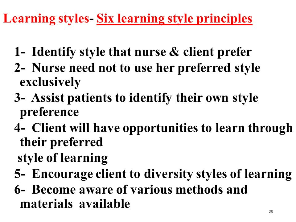 preferred learning styles By now, it is common knowledge that students have preferred learning styles  what began as a hypothesis is now backed up by decades of.