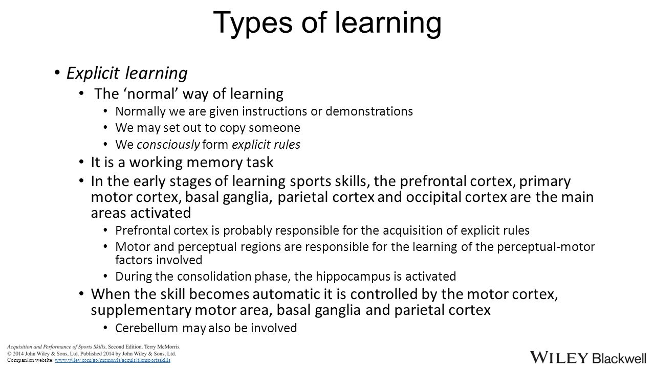 Understanding motor learning stages improves skill instruction