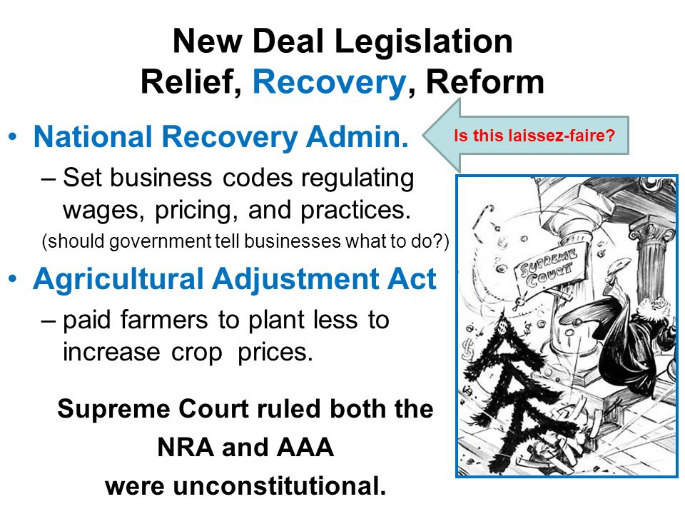 relief recovery and reform essay The new deal focused on three general goals: relief for the needy, economic recovery, and financial reform during the one hundred days, congress enacted 15 major pieces of legislation establishing new deal agencies and programs.