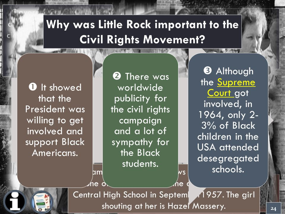 gcse history little rock high In national 5 history learn about notable events in the civil rights campaigns,  such  desegregation laws came into effect at central high school in little rock, .