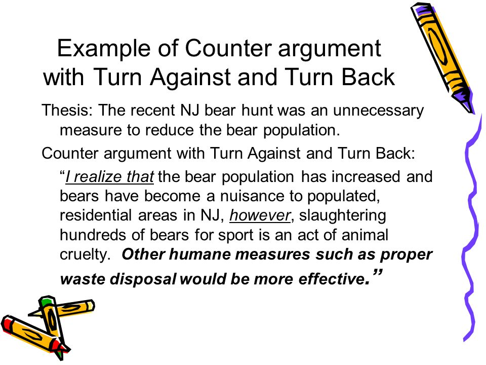 11 Example Of Counter Argument ...