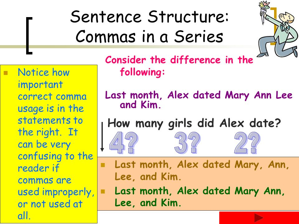Language Arts 8 Comma Unit - ppt download