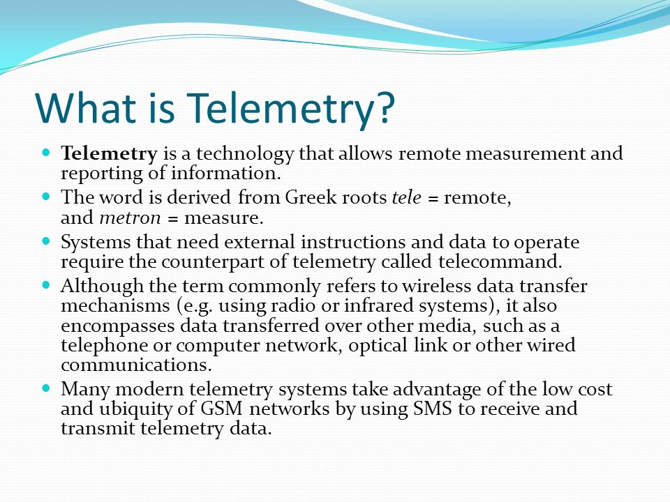 Telemetry Ppt Video Online Download