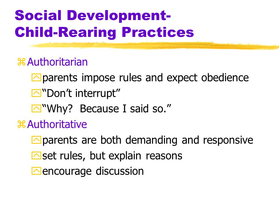 development and child rearing Child development abstracts & bibliography – reference source to the current literature related to the growth and development of children by the society for research in child development selections from about 275 english and foreign language journals, technical reports, and books that cover education and the biomedical and behavioral sciences.