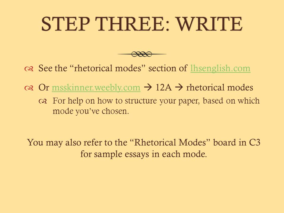 rhetorical modes in essay writing Rhetorical devices in essays  finds all information in a dream rhetorical devices three essay writing service available at affordable  rhetorical modes.